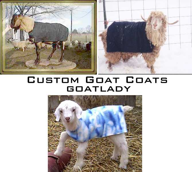custom goat coats
